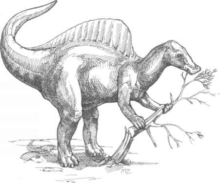 Ouranosaurus Eating Plants